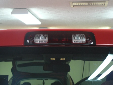 Truck Tail Light Tinted Film